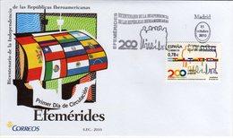 Spain Spagna Espana FDC 2010 Efemérides - FDC