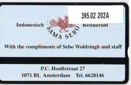 Telefoonkaart  LANDIS&GYR NEDERLAND * RCZ.395.02  202a * Indonesisch Restaurant Sama Sebo *  TK * ONGEBRUIKT * MINT - Privé