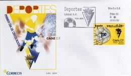 Spain Spagna Espana FDC 2010 Deportes Càdiz - FDC