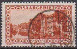 Saarland 1926 MiNr.110 O Gest.Landschaftsbilder Kaserne Saarlouis ( 8610 ) Günstige Versandkosten - Used Stamps