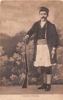 ALBANAIS    COSTUME MILITAIRE    CACHET ESCADRON DU TRAIN - Albanie