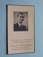 DP Fernand PEETERMANS () Anvers 11 Sept 1923 - 2 Nov 1944 ( Zie Foto's ) ! - Todesanzeige