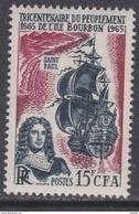 Réunion N° 365 XX Tricentenaire Du Peuplement De L'île, Surchargée CFA, Sans Charnière, TB - La Isla De La Reunion (1852-1975)