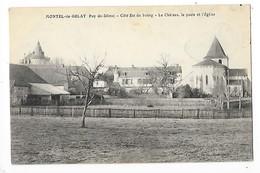 MONTEL De GELAT  (cpa 63)  Côté Est Du Bourg, Le Château, La Poste Et L'église   -  L 1 - Autres Communes