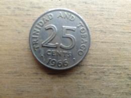 Trinite & Tobago  25  Cents  1966  Km 4 - Trinidad & Tobago
