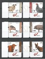 Portugal 2019 Raças Autóctones Ovelha Galinha Porco Vaca Oveja Pollo Cerdo Vaca Mouton Poulet Cochon Vache - Briefmarken