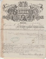 Pays Bas Facture 4 Pages Illustrée 13/8/1877 Stearine KAARSEN Fabriek GOUDA - Pays-Bas