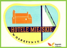 Voyo HOTELE MIEJSKIE Olsztyn Poland Hotel Label 1970s Vintage - Etiketten Van Hotels