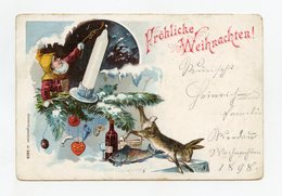 """Féerique Joyeux Noël . Lutin, Gnome, Nain Lapin . Christmas. Dwarf, Pixie Rabbit """""""" Année 1898 """""""""""" - Other"""