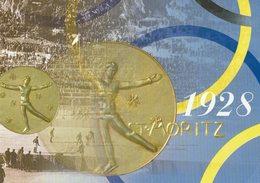 2009 HELVETIA SUISSE ENTIER POSTAL - JEUX OLYMPIQUES D'HIVER A NAGANO - ST. MORITZ 1928  PATINAGE MÉDAILLE - Invierno 1998: Nagano