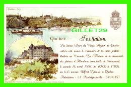 QUÉBEC - INVITATION, LA 8ie FOIRE DU VIEUX PAPIER DE QUÉBEC EN 1998 - CANADIAN POSTAL CARD - - Québec - La Cité