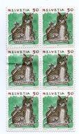 Carnet De 6 Timbres HELVETIA 50 NEUF DE 1990   Chat - Suisse