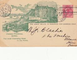 CANADA Entier Postal Vers La France 1900-1901 - Post Office Cards