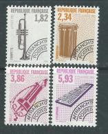 France  Préoblitéré N° 228 / 31 XX Les Instruments De Musique (VI)  : Les 4 Valeurs  Sans Charnière, TB - Préoblitérés