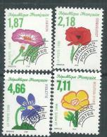 France  Préoblitéré N° 240 / 43 XX Fleurs Sauvages  : Les 4 Valeurs  Sans Charnière, TB - Préoblitérés