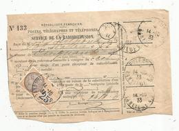 Timbre Fiscal , 25 C , Puteaux ,1933 , Service De La Radiodiffusion - Portomarken