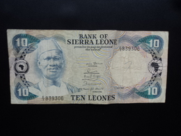 SIERRA LEONE : 10 LEONES   1.7.1980   P 13    Presque TB - Sierra Leone