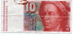 Billet 10 Francs SUISSE  Leonanhard Euler - Swaziland