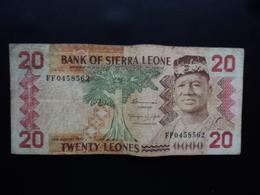 SIERRA LEONE : 20 LEONES   24.8.1982   P 14a    TB - Sierra Leona