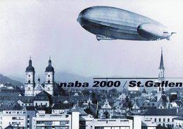 2000 HELVETIA SUISSE ENTIER POSTAL - NABA 2000 ST.GALLEN JOURNÉE DE LA NAVIGATIO AÉRIENNE ZEPPELIN - Zeppelins