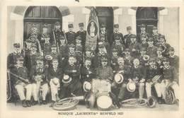 CPA 67 Bas Rhin Benfeld Musique Laurentia 1921 Circulée 1925 Fanfare Musiciens - Benfeld