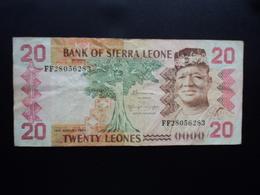 SIERRA LEONE : 20 LEONES   24.8.1984   P 14b     TTB - Sierra Leone