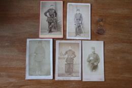 5 Cdv Militaires Second Empire  Guerre De 1870 1871 - Guerra, Militares