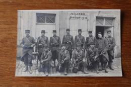 Carte Photo Villers Sous Prény 30 Aout 1913 Militaires Devant La Pompe à Incendie - France
