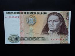 .PÉROU * :  500 INTIS   26.6.1987    P 134b      NEUF - Perú