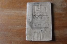 Livret Militaire    Officier Marinier Et Marin Second Empire 1864 - Documents