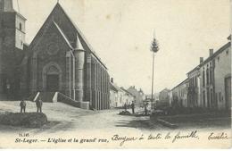 ST-LEGER : L'Eglise Et La Grand'Rue - Cachet De La Poste 1904 - Saint-Léger