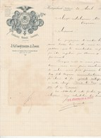 Pays Bas Facture Lettre Illustrée 20/4/1896 J G GOO¨YMANS & ZOON Distillerderij HERTOGENBOSCH - Pays-Bas