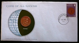 Numisletter Guernsey   Coin UNC 2 Pence 1979 + Stamp Michel Nr 183 - Guernesey