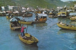 A Fishing Gril At Aberdeen--voir 2 Scans - China (Hongkong)