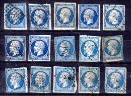 1853 - 1871; Kleine Sammlung Napoleon II. , Und Ceres, (ex YT 14 - 60 ) Aus Mi-Nr. 13I - 55, Gest. Los 50935 - 1853-1860 Napoleon III
