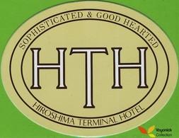 Voyo HOTEL TERMINAL Hiroshima Japan Hotel Label  Sticker 1980s Vintage - Etiketten Van Hotels