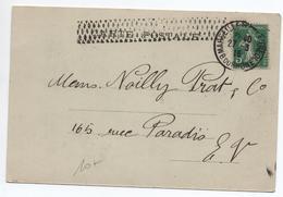 """1915 - CARTE COMMERCIALE """"WATSON & PARKER"""" De MARSEILLE Avec SEMEUSE - Postmark Collection (Covers)"""