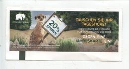 Ticket - Kolner Zoo Cologne - AG Zoologischer Garten Köln - Tickets - Vouchers