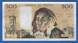 500 Fr  Du  3/11/1977 - 500 F 1968-1993 ''Pascal''