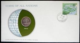 Numisletter Jamaica  Coin UNC 10 Cents 1979 + Stamp 1972 - Jamaique
