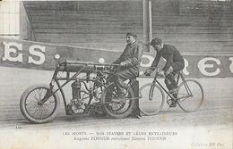 Les Sports, Cyclisme: Nos Stayers Et Leurs Entraineurs - Auguste Fossier Entrainant Honoré Fossier - Carte ND N° 110 - Cyclisme