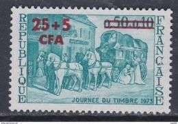 Réunion N° 414 XX  Journée Du Timbre Surchargées CFA, Sans Charnière, TB - La Isla De La Reunion (1852-1975)
