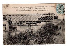 CPA 49 - Catastrophe Des Pont De Cé ( M Et L ) 4 Août 1907 - La Croix Marque La Locomotive - Autres Communes