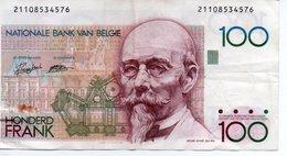 Billet Belgique, 100 Francs Type 1981-82, - [ 2] 1831-... : Belgian Kingdom