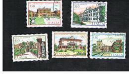 ITALIA REPUBBLICA  - UNIF. 1793.1797    1986   VILLE D' ITALIA:  -      USATO - 6. 1946-.. República