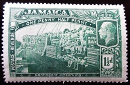 1919 Jamaïque  Yt 78 . World War I Contingent Embarking . Neuf Trace Charnière - Jamaica (...-1961)