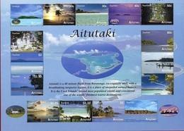 Aitutaki 2010 Yvertn° Bloc 85 *** MNH Cote 32 Euro Tourisme Vues De L' île - Aitutaki