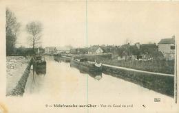 Cpa -   Villefranche Sur Mer -  Vue Du Canal En Aval ,pèniches              E797 - France
