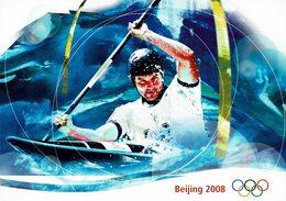 2008 HELVETIA SUISSE ENTIER POSTAL - BEIJING 2008 CANOË SLALOM CIO - Verano 2008: Pékin