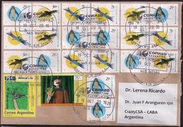 Argentina - Letter - 2016 - Oiseaux D'Argentine - Condor - Tucan - Pingouins - Lettres & Documents